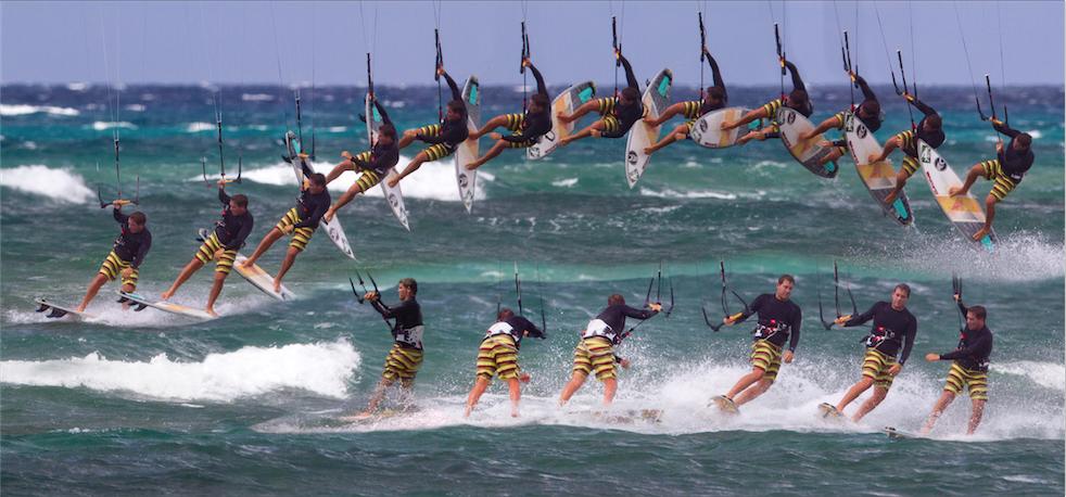 kitesurfing 180 shove it ole